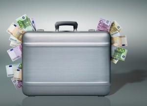 Briefcase Stuffed with Euros